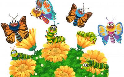 Zabezpieczony: Wświecie motyli- zabawy dla grupy maluszków