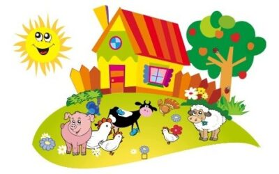 Zwierzęta wiejskie iich dzieci- zabawy dla grupy średniaków istarszaków